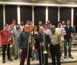 Steven Bryant, Joe Alessi, and the UT Trombone Choir
